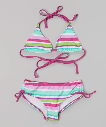 Purple Stripe Ice Pop Bikini - Infant, Toddler & Girls