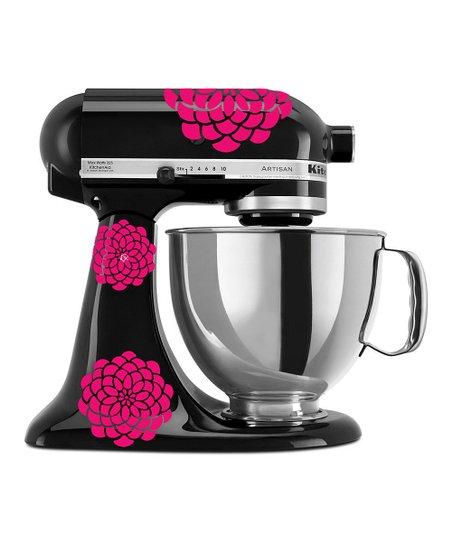 Dwdesign8 pink zinnia kitchenaid mixer decal set zulily - Pink kitchenaid accessories ...