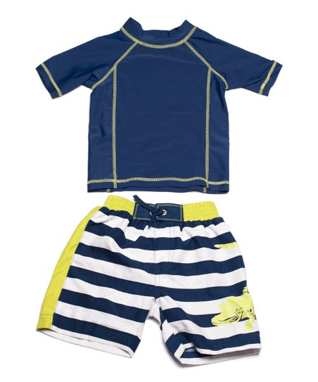 Navy Gator Rashguard & Boardshorts - Infant & Toddler