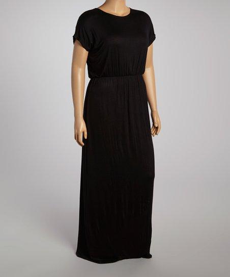 Black Maxi Dress  - Plus