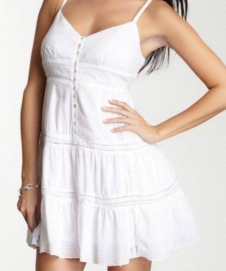White Peasant Camisole DressWhite Camisole Dress