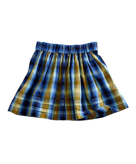 tin haul blue yellow plaid skirt zulily