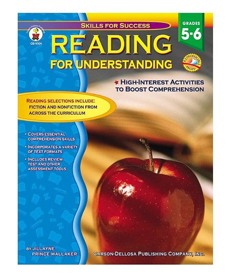 Reading for Understanding Grades 5 to 6 Paperback