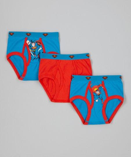 Red & Blue Superman Underwear Set - Toddler & Boys