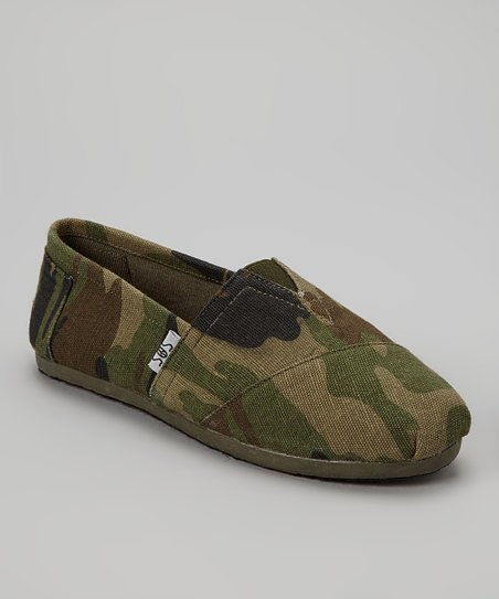 shoes of soul green camo slip on shoe zulily