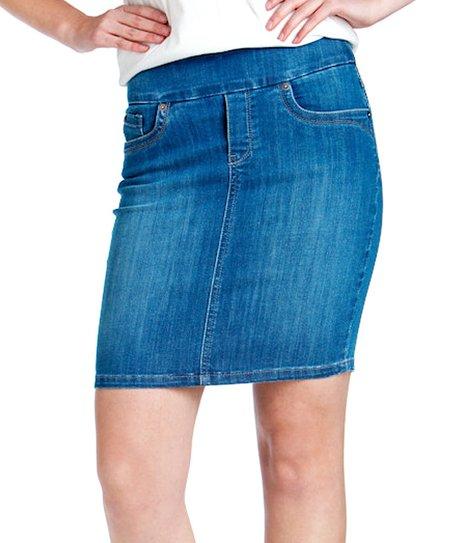 bluberry denim light blue denim skirt plus zulily