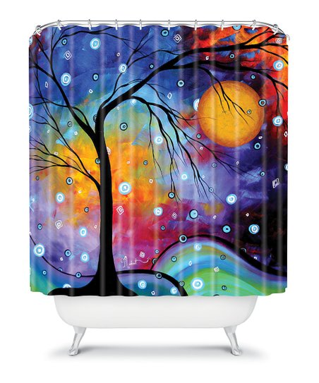 DENY Designs Blue & Yellow Winter Sparkle Shower Curtain | zulily