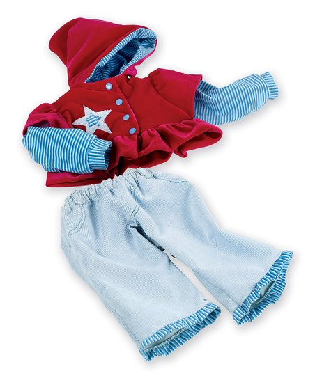 Red Star Doll Outfit
