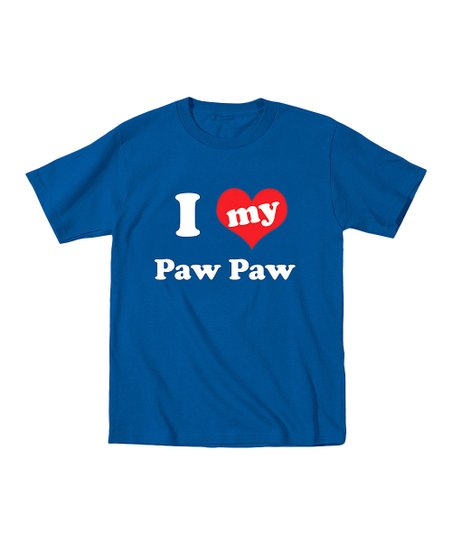 Royal Blue 'I Love My Paw Paw' Tee - Toddler & Boys