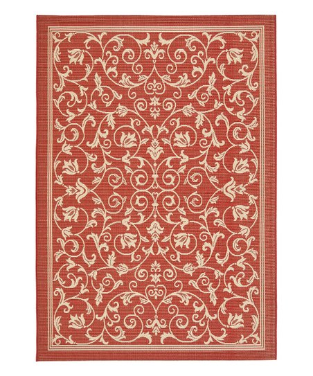 Red & Natural Leah Indoor/Outdoor Rug