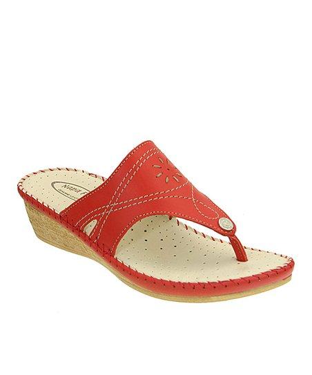 Red Vita Leather Sandal
