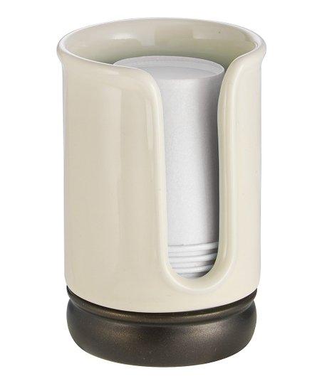 ceramic vanilla york disposable cup dispenser