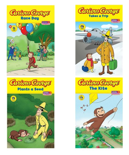 Curious George: The Kite & Race Day Paperback Set