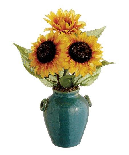 Sunflower terra cotta pot arrangement zulily - Terras arrangement ...