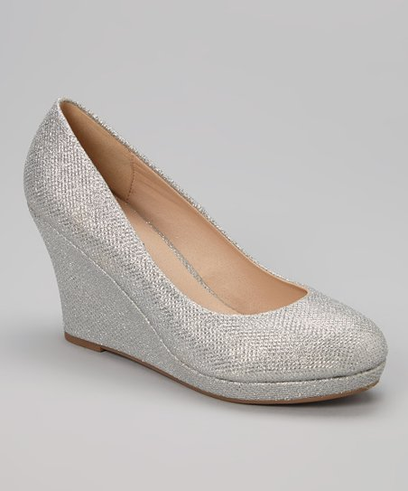 Silver Glitter Soft Wedge