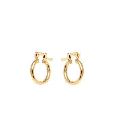 Gold Thin Hollow Hoop Earrings