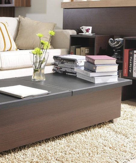 Furniture Of America Walnut Milan Storage Coffee Table Zulily