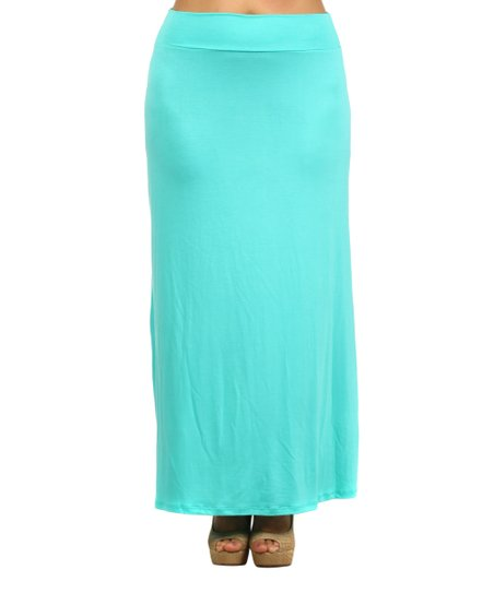 j mode usa los angeles mint maxi skirt plus zulily