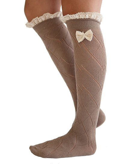 boutique socks brown ivory ruffle boot socks zulily
