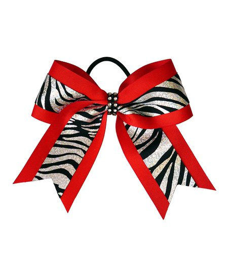 Red Zebra Hair Bows 18