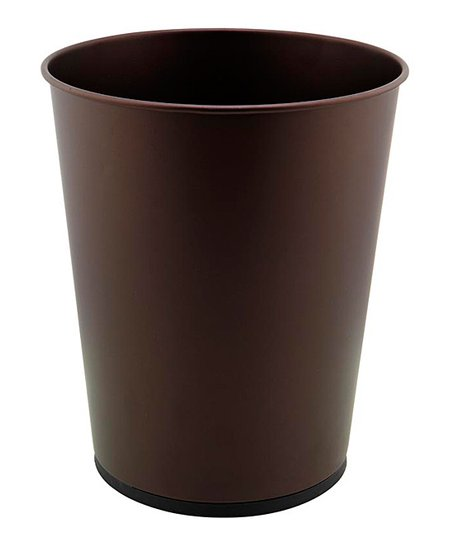 Rust contemporary bathroom trash can zulily for Bathroom garbage can
