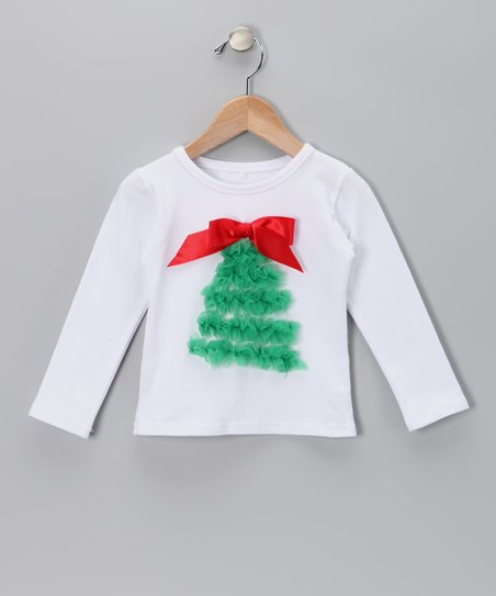 White Christmas Tree Tee - Infant, Toddler & Girls