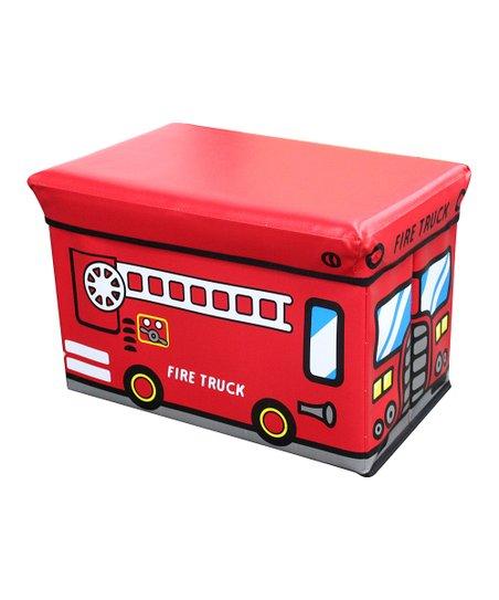 Red 'Fire Truck' Folding Storage Ottoman