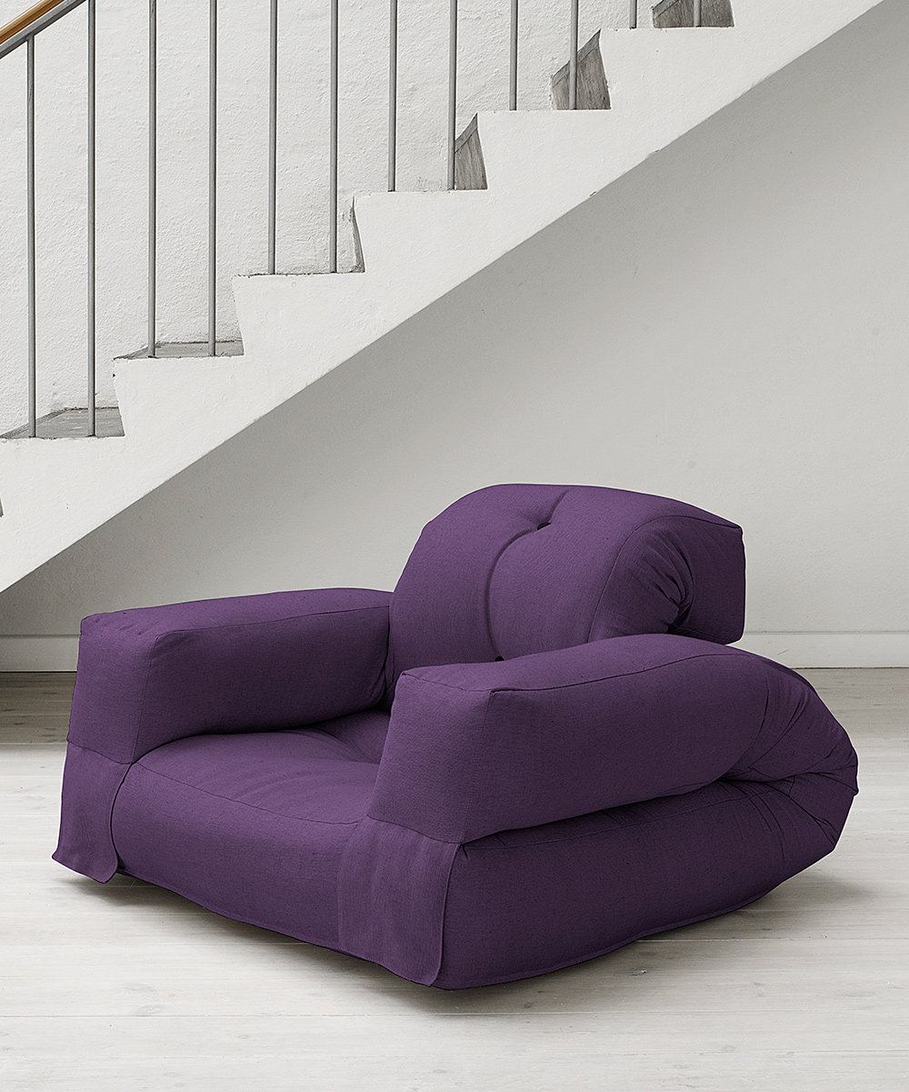 Purple Hippo Convertible Futon Chair Zulily