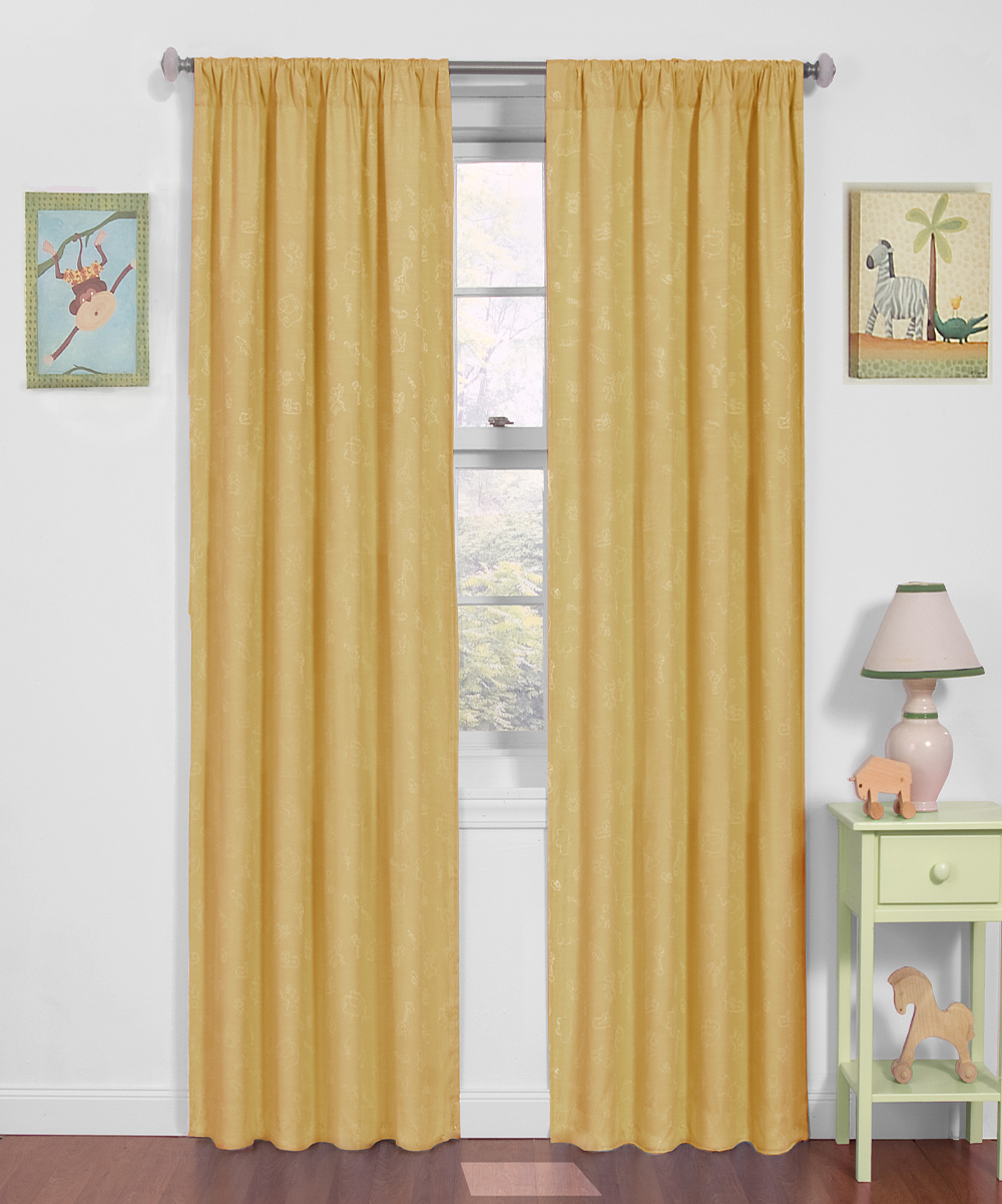 pale yellow nursery eclipse blackout curtain panel zulily