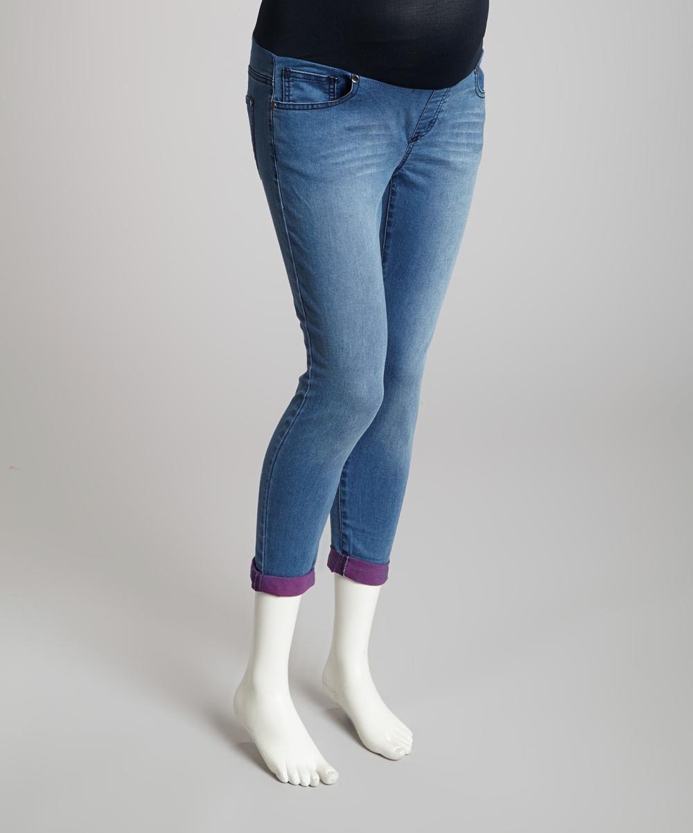 light wash denim soft over belly maternity boyfriend jeans. Black Bedroom Furniture Sets. Home Design Ideas