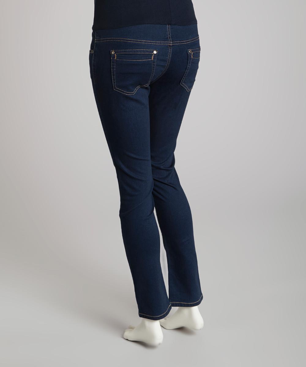 light wash over belly maternity skinny jeans zulily. Black Bedroom Furniture Sets. Home Design Ideas