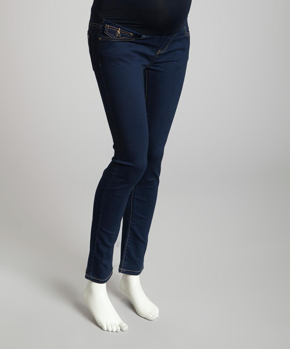 light wash over belly maternity skinny jeans women zulily. Black Bedroom Furniture Sets. Home Design Ideas