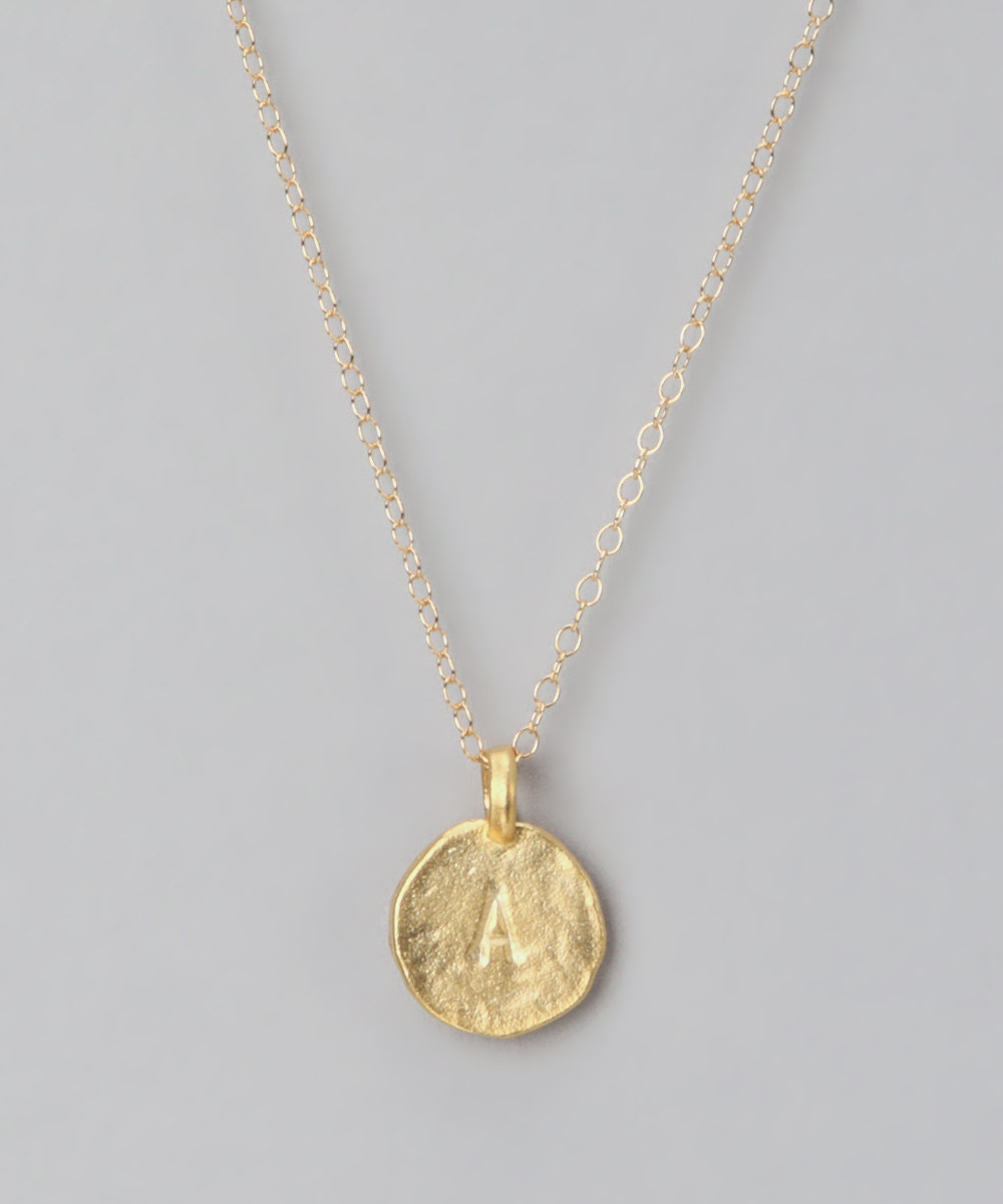 pullis designs gold initial pendant necklace zulily
