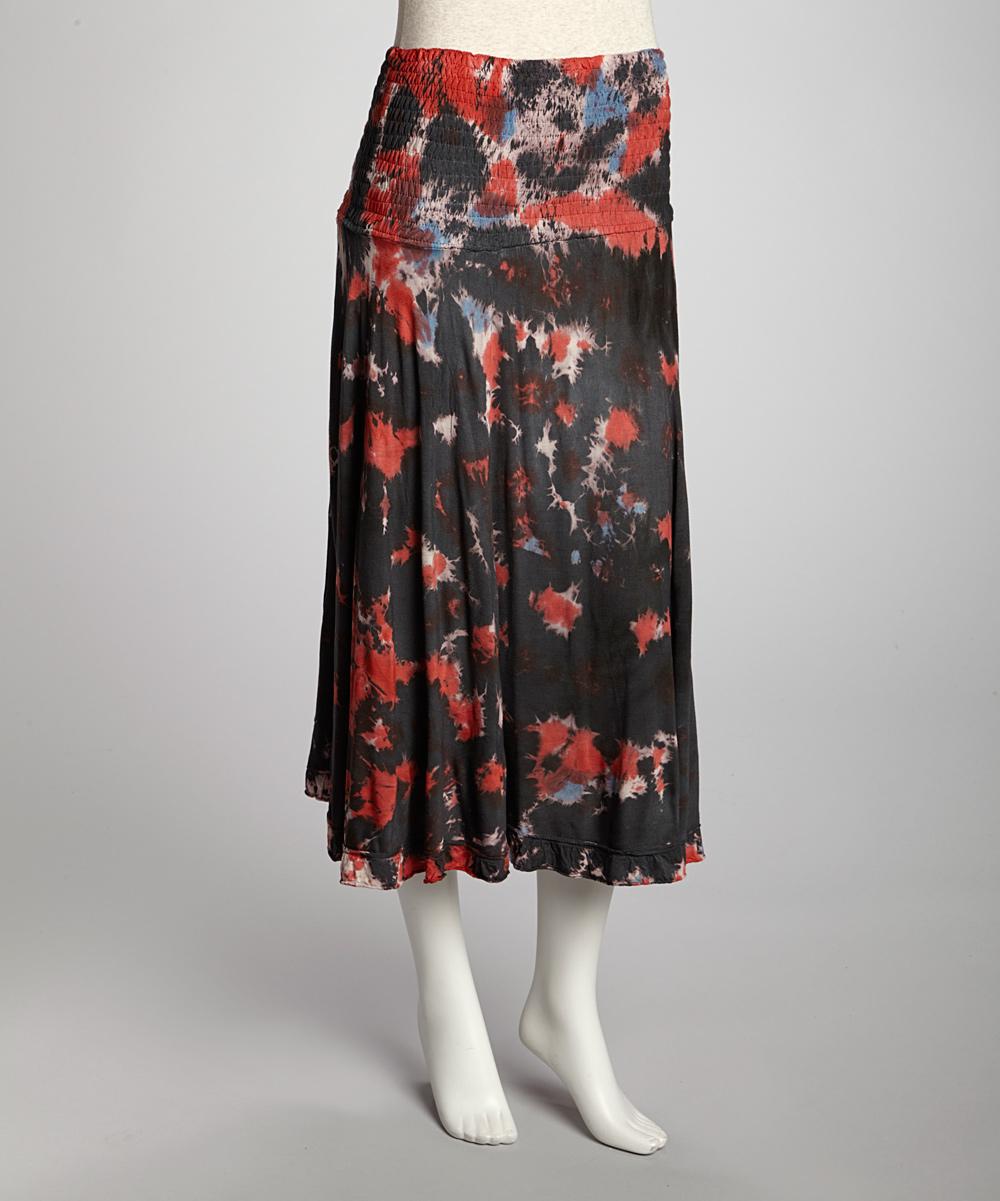 black tie dye convertible skirt zulily