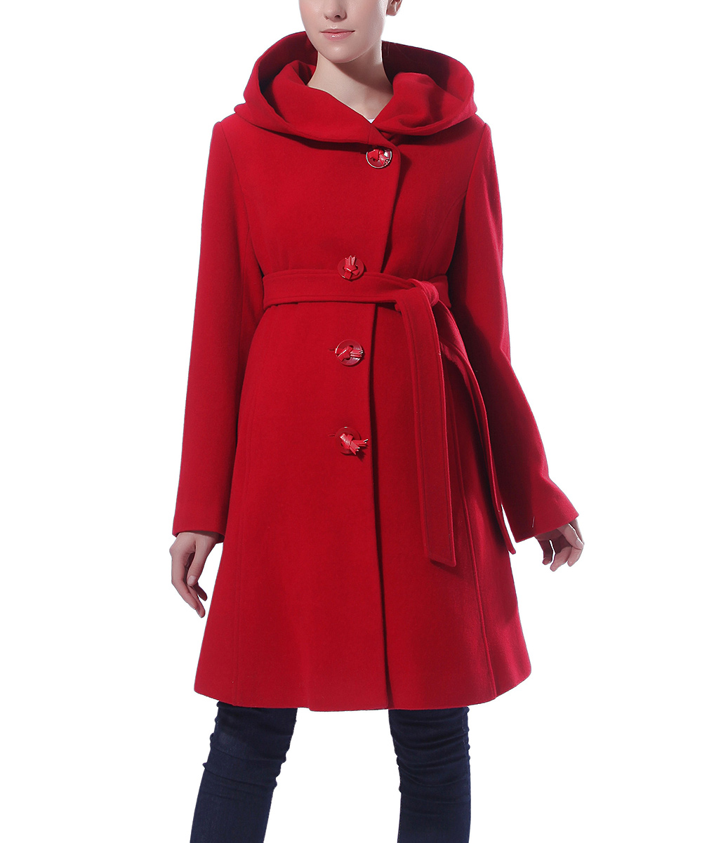 MOMO Maternity Red Erin Wool-Blend Maternity Coat | zulily