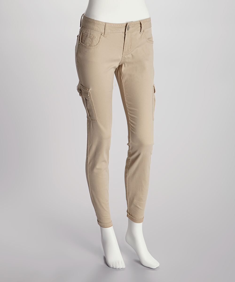 Model Michael Kors Skinny Stretchcotton Cargo Pants In Khaki  Lyst
