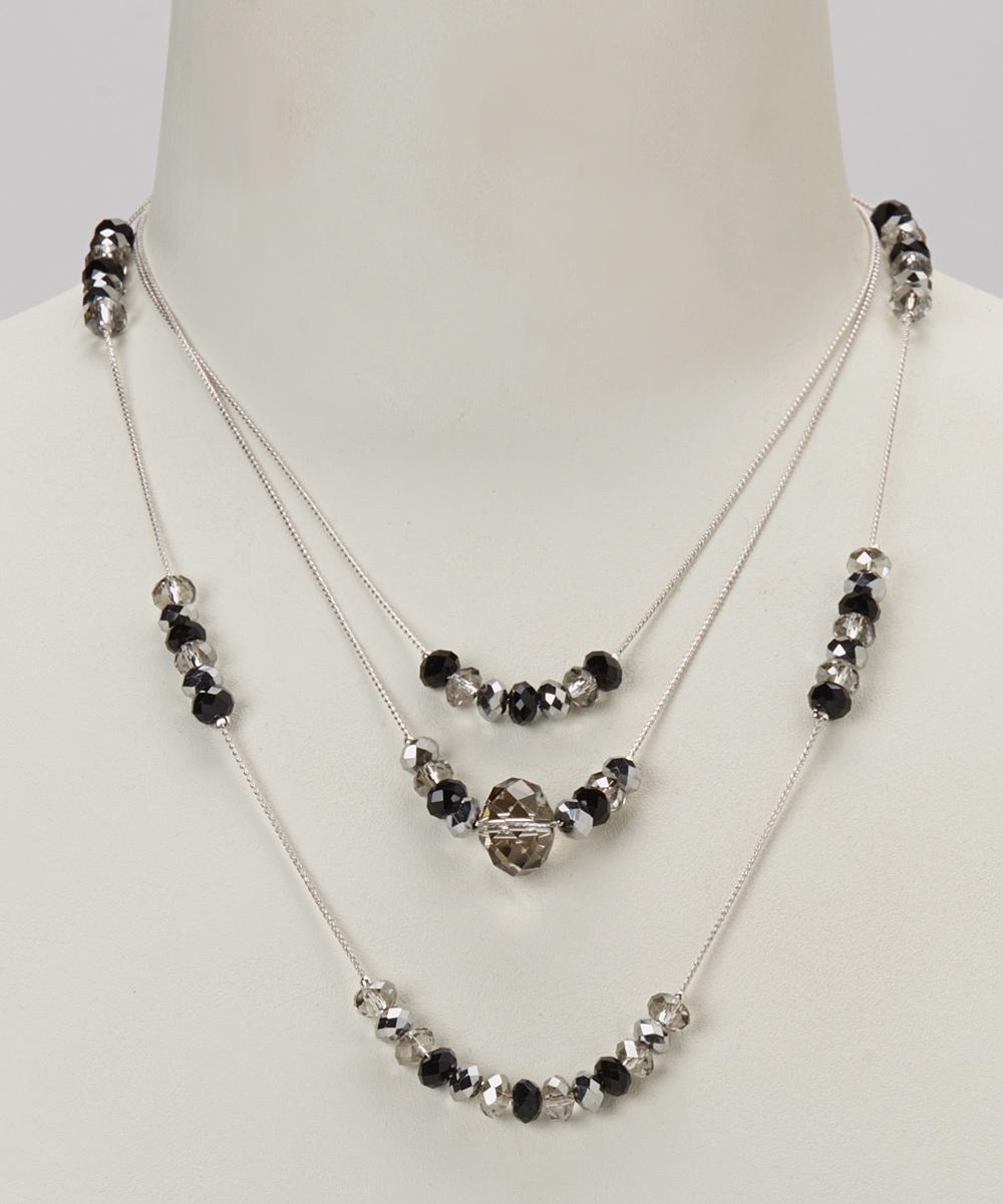 bronze platinum three row gold chain necklace zulily