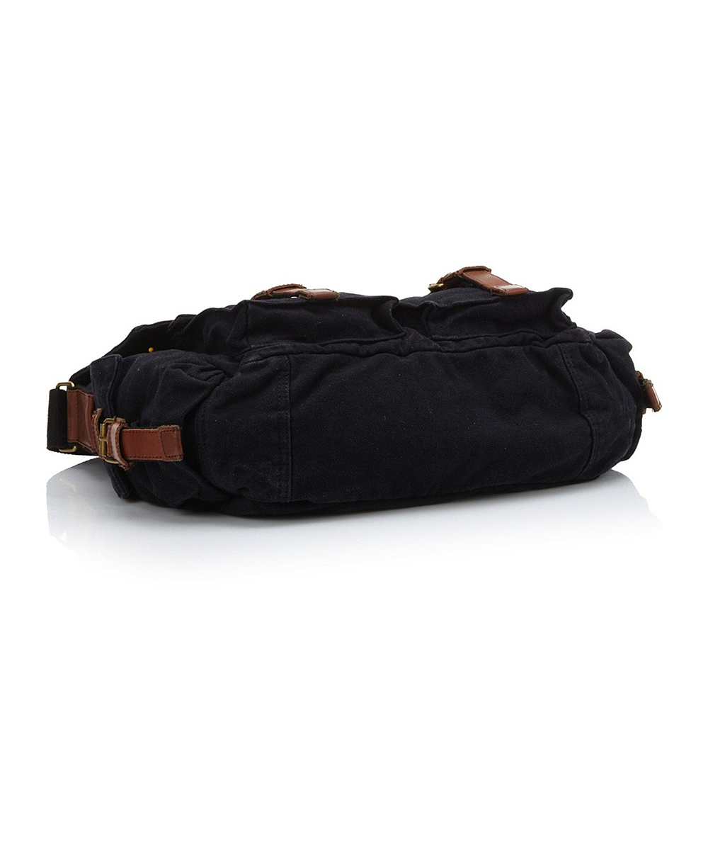 Black & Brown Messenger Bag - Men