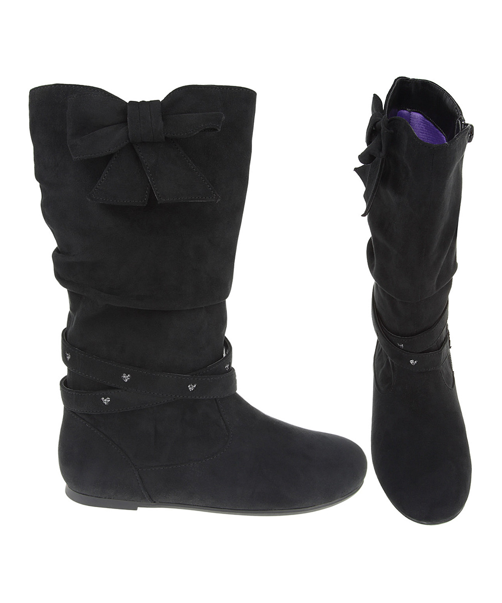 ruum black slouch boot zulily