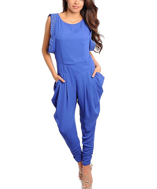 Perfect Royal Blue Jumpsuit Women  Car Interior Design