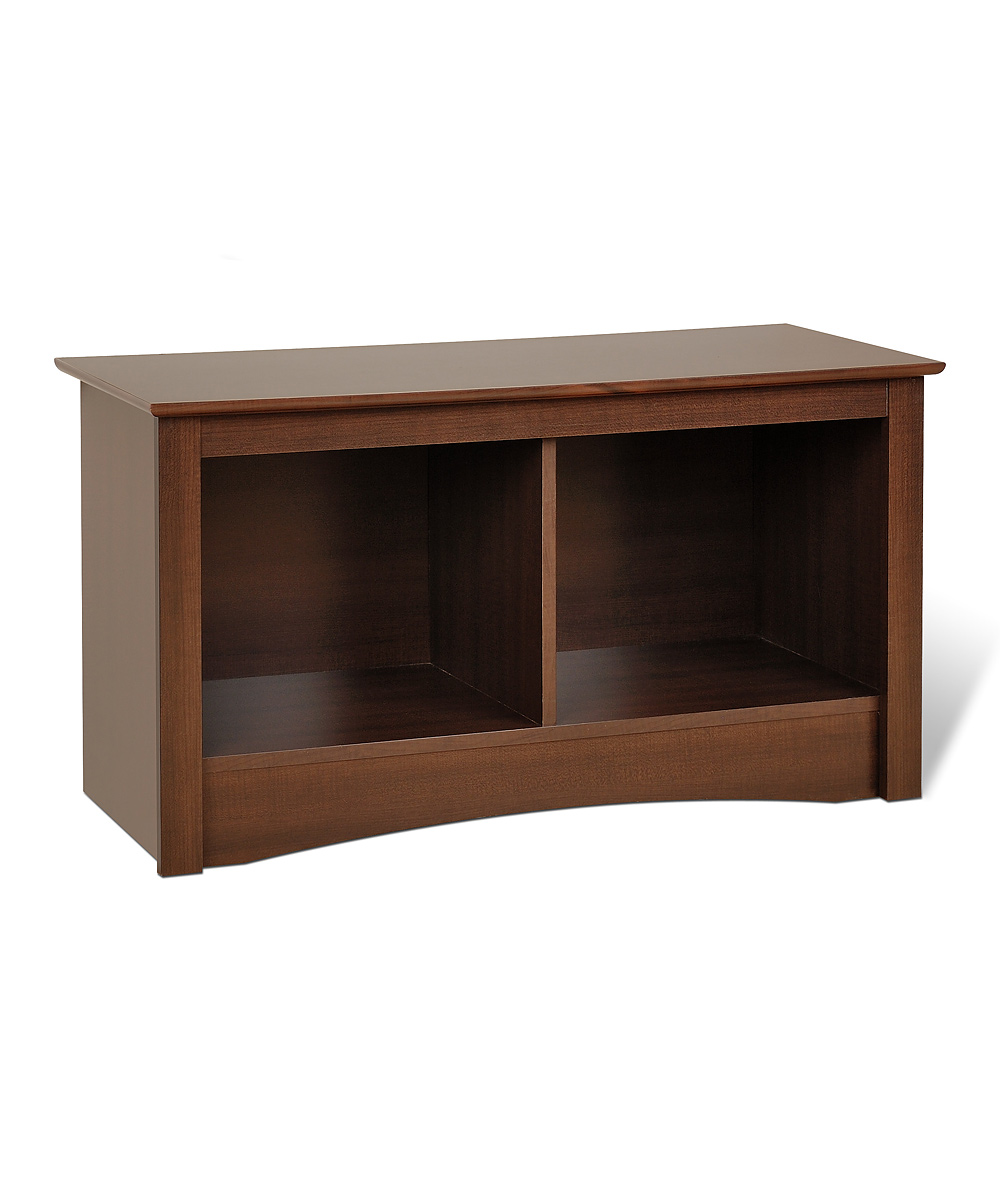 Espresso Double Cubby Bench Zulily