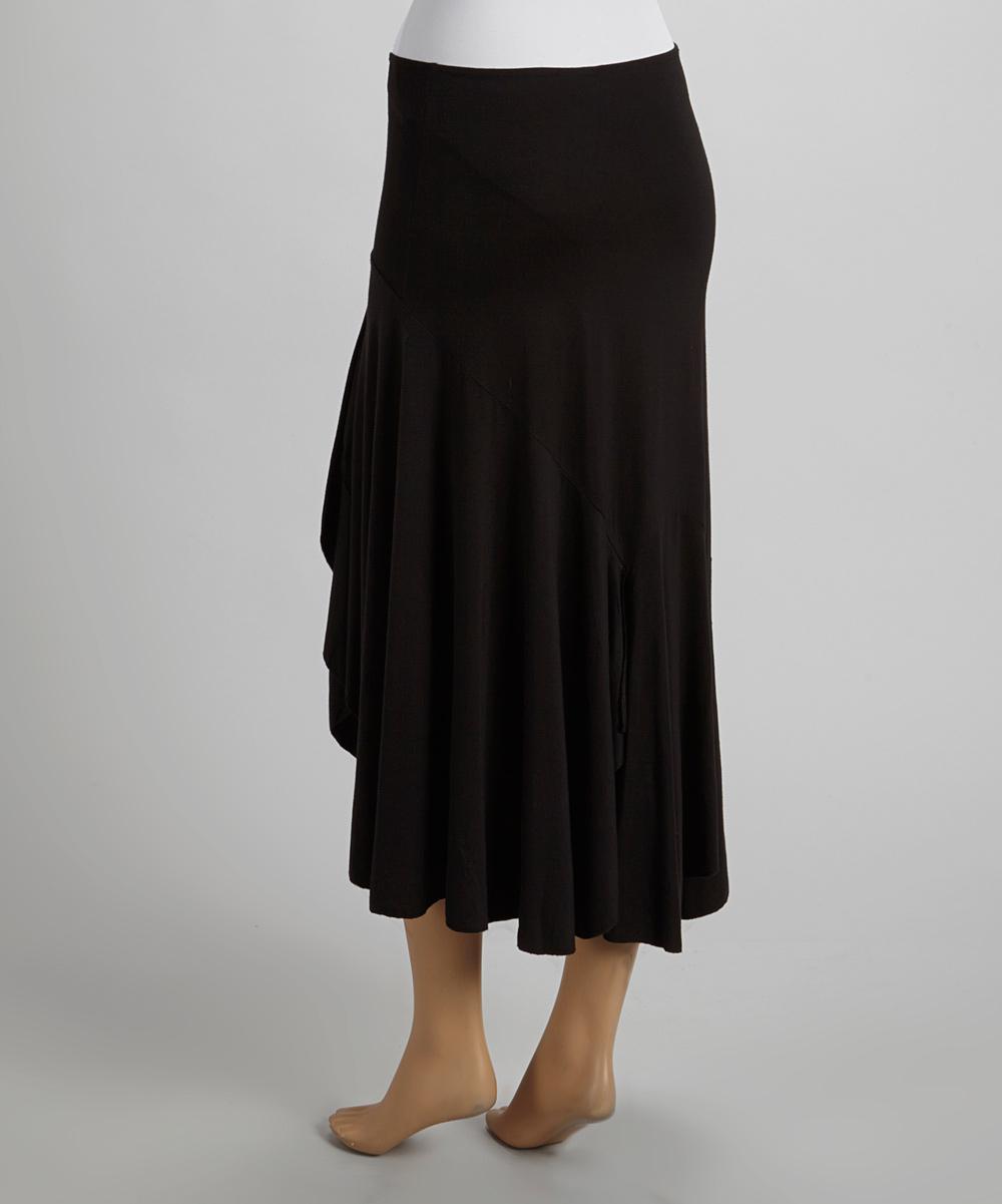 survival black boho maxi skirt zulily