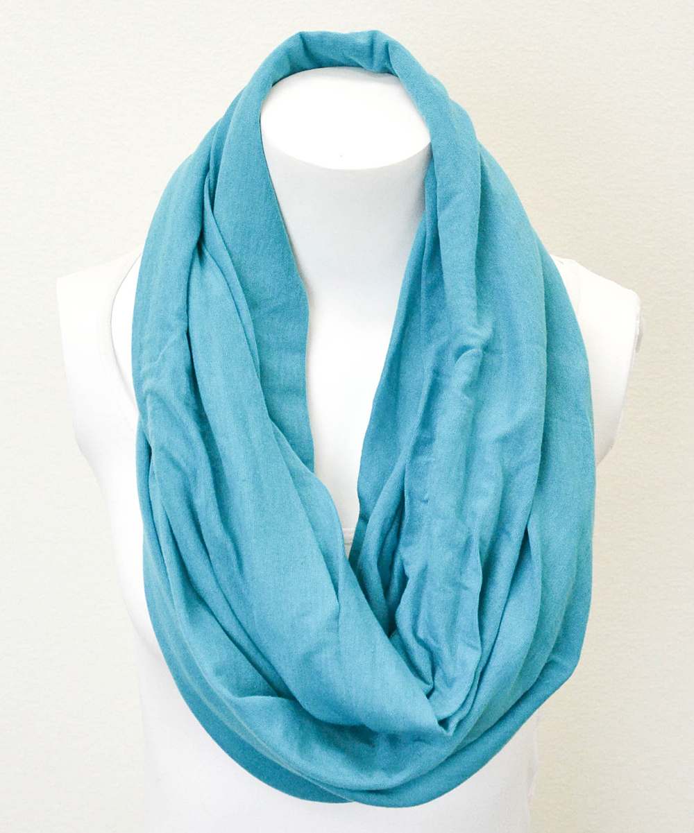 teal solid jersey infinity scarf