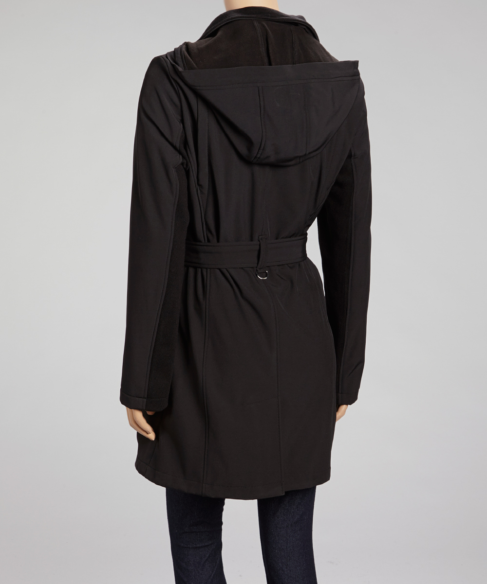 black trench coat with hood - photo #14