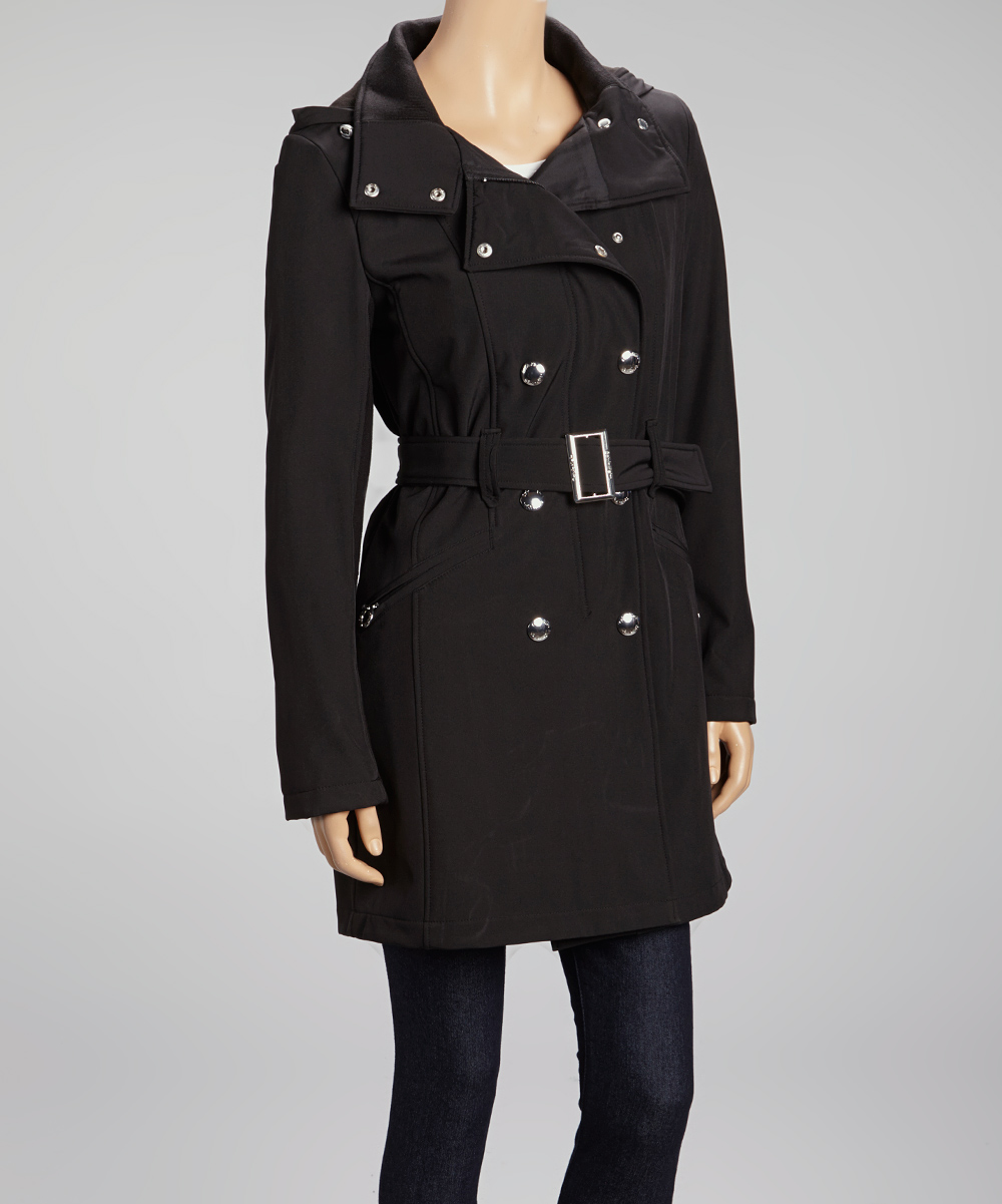 black trench coat with hood - photo #1