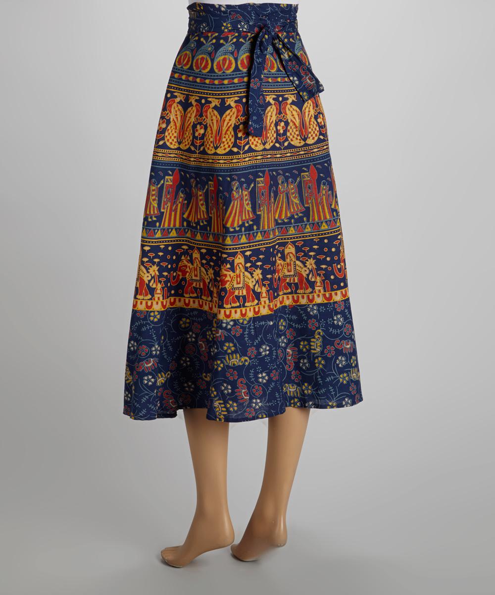 the om company royal blue elephant wrap skirt zulily
