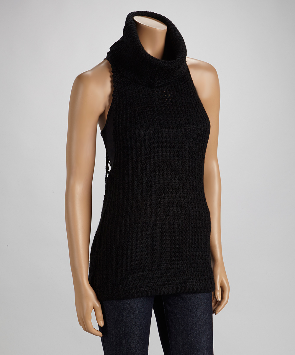 Black Sleeveless Sweater 16