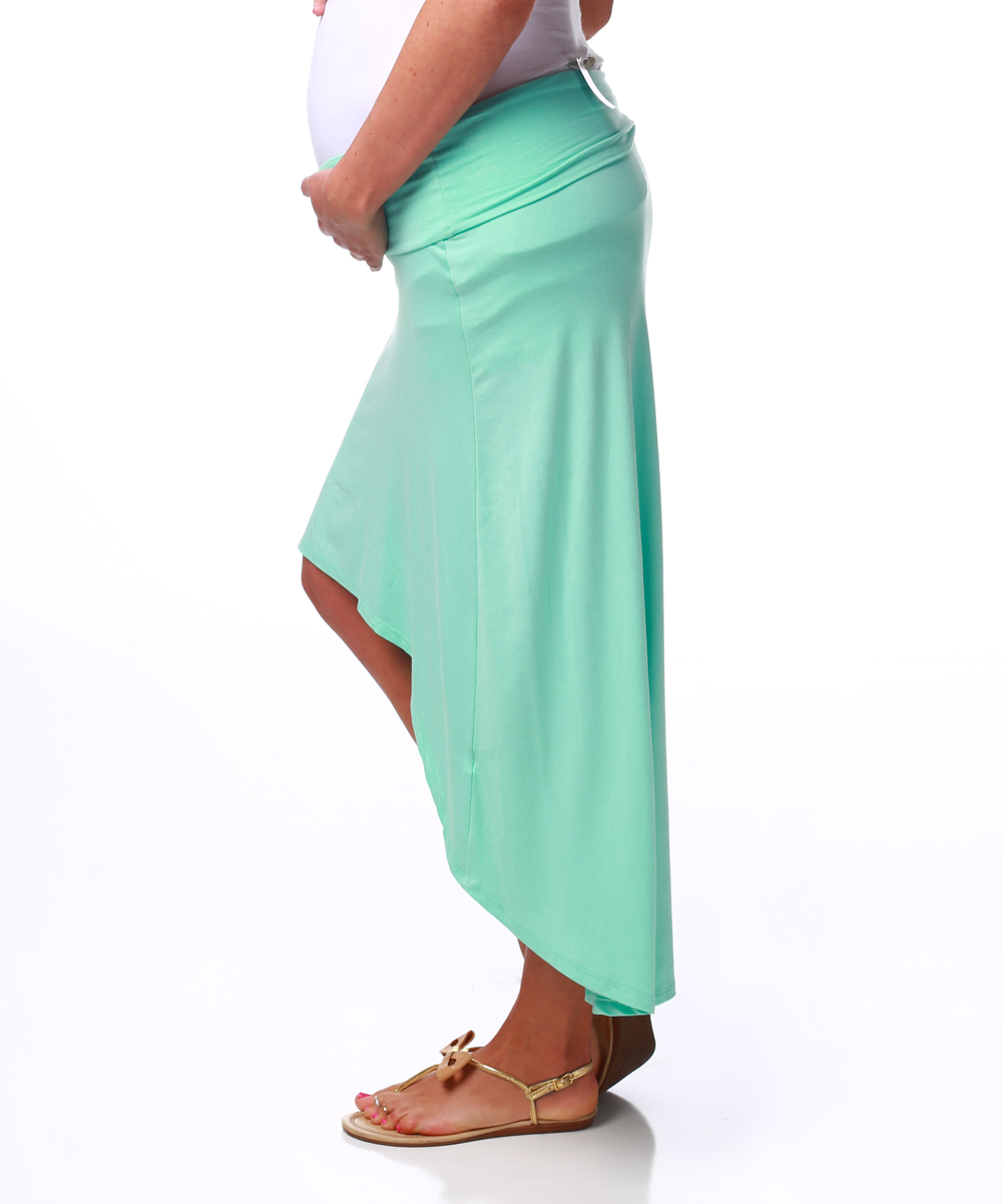 pinkblush maternity pinkblush mint maternity hi low skirt