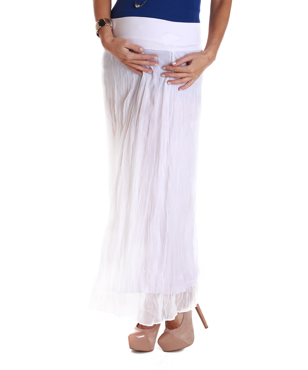 pinkblush maternity pinkblush white crinkled chiffon