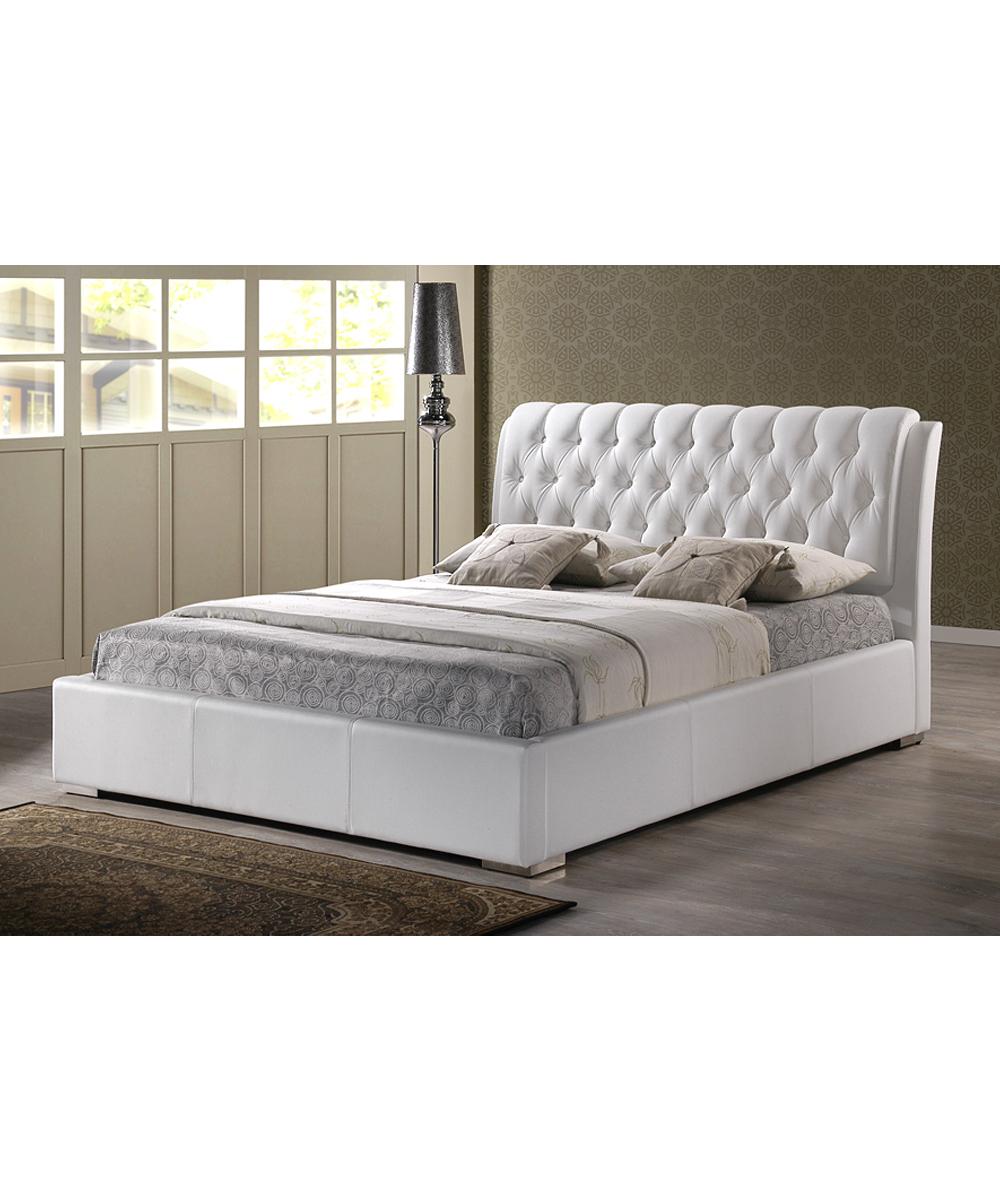 Baxton Studio White Bianca Tufted Modern Bed Frame Zulily